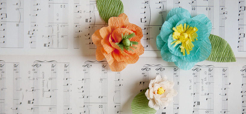 Crepe paper flowers for Mother's Day