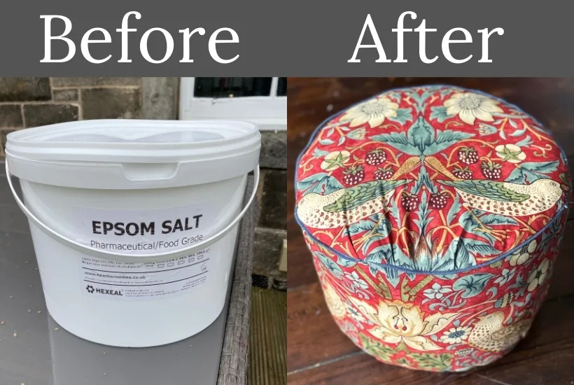 DIY Footstool from an Upcycled Plastic Tub
