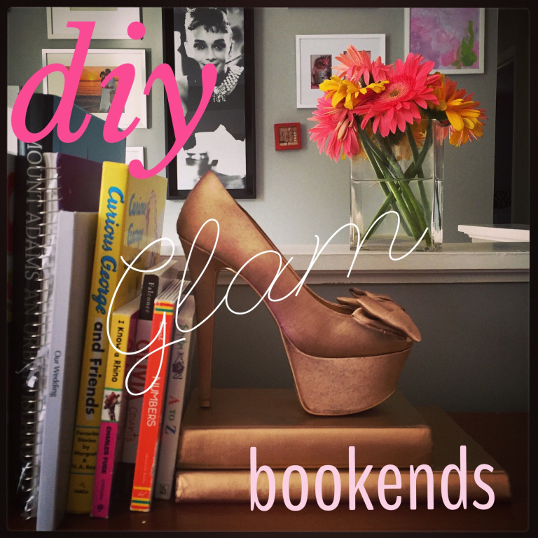 DIY Glam Bookends