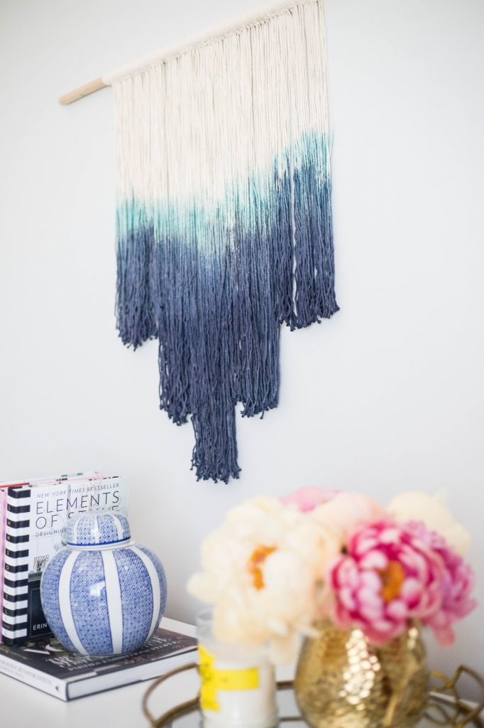DIY How To Make A Dip Dyed Wall Hanging…