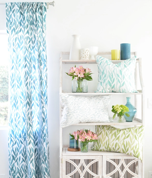 DIY No Sew Curtains and Pillow Covers