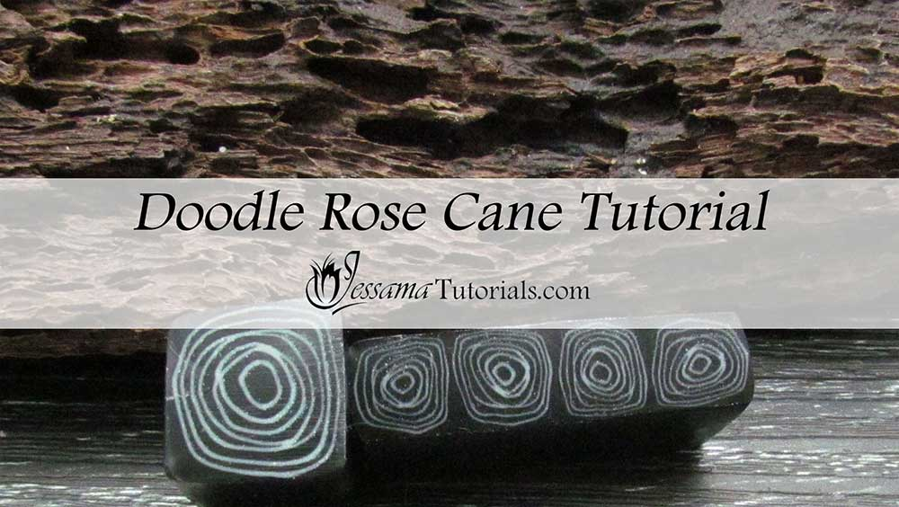 Doodle Rose Cane Polymer Clay Tutorial