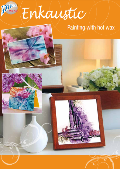 Enkaustic painting with hot wax