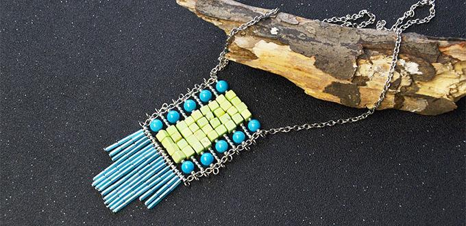 Ethnic Style Jewelry – How to Make a Bead Tassel Pendant Necklace