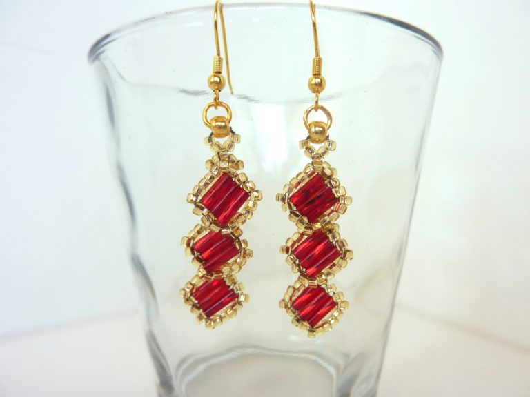 FREE beading pattern for Alexia Earrings