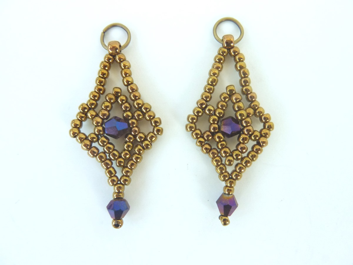 FREE beading pattern for Crystal Lace Earrings