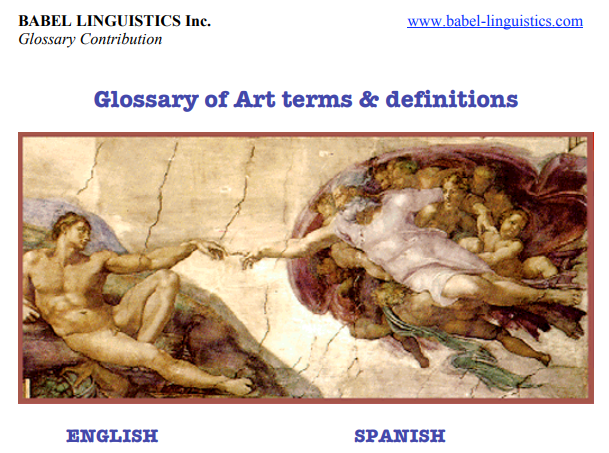Glossary of Art terms & Definitions