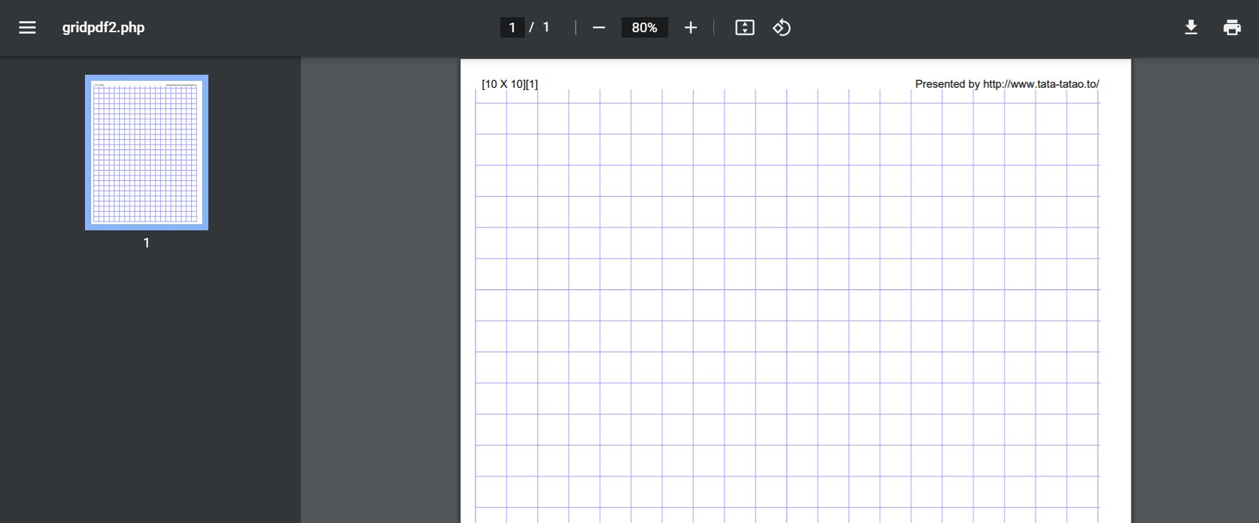 Graph Paper Generator based on your Pattern Gauge
