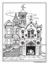 House adult coloring