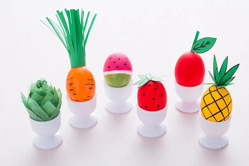 How to Decorate Easter Eggs to Look like Fruits and Veggies