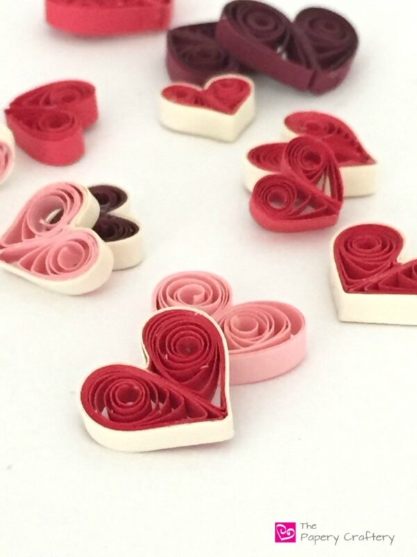 How to Make Quilling Paper Hearts 4 Different Ways!