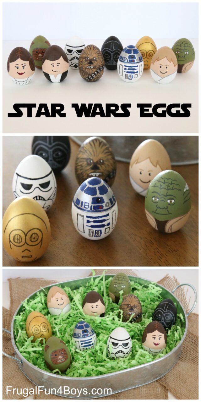 How to Make Star Wars Painted Easter Eggs