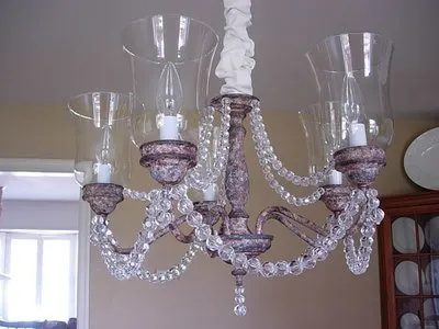 How to Paint a Rusted Faux Finish on a Brass Chandelier