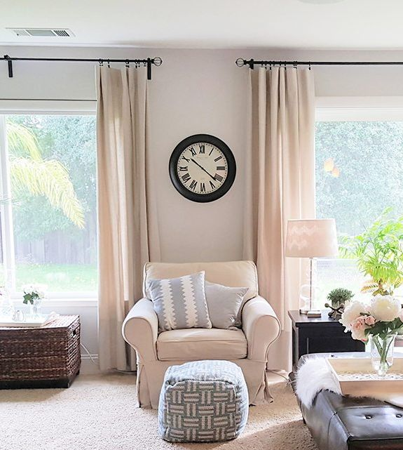 Learn How To Make DIY No Sew Drop Cloth Curtains