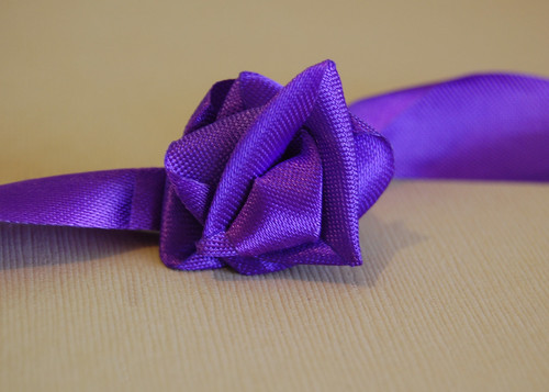 Quick & Easy Ribbon Roses {Waste Not Wednesday}