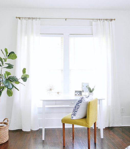 SIMPLE EASY HACK FOR NO SEW CURTAINS