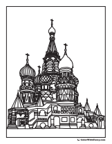 St. Basil Cathedral coloring