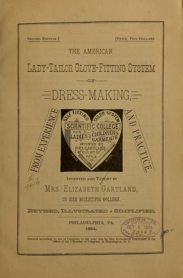 The American lady tailor glove fitting system of dress making
