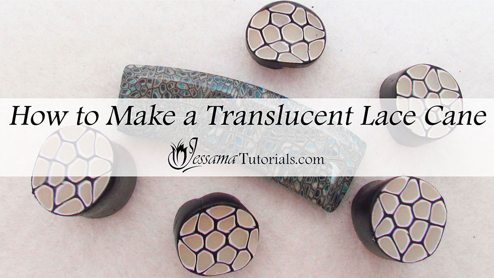 Translucent Polymer Clay Lace Cane