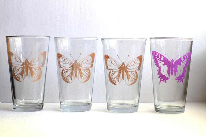 Tutorial Silk Screened Butterfly Glasses