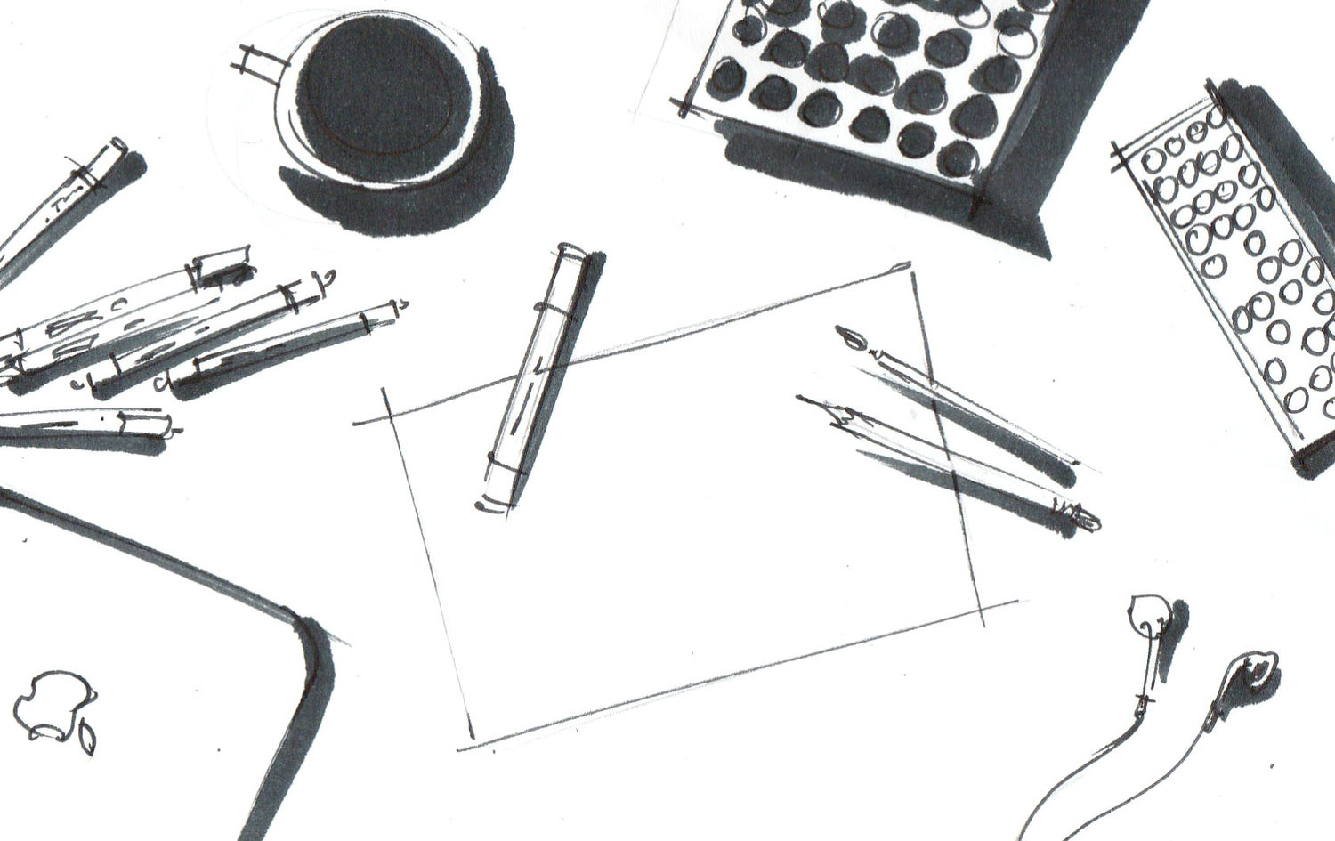What is sketching and the 4 most popular types of it