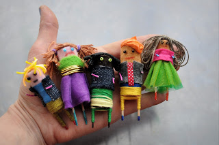 Worry Dolls (Made Of Old Batteries) 5+